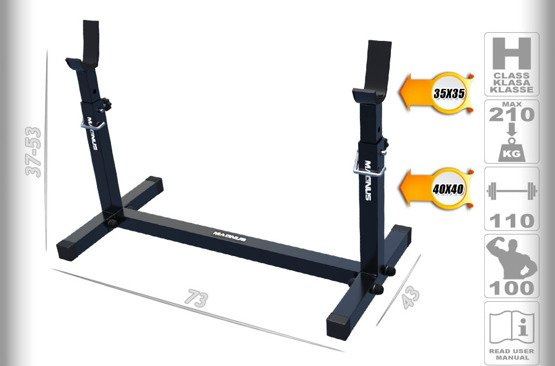Barbell stands for scott benches MAGNUS MC-S004